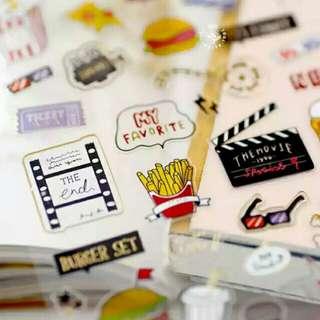 🌸Ready Stock🌸 Junk Food Cinema Sticker