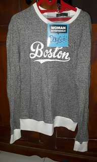 Sweater Boston abu abu