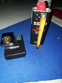 Pipa rokok gading gajah dan zippo