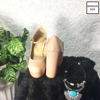 FOREVER 21 Block Heeled Nude Shoes or pumps (w/ box)