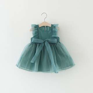 Poofy princess dress in teal or peach