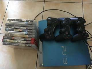 PS3 slim with free games