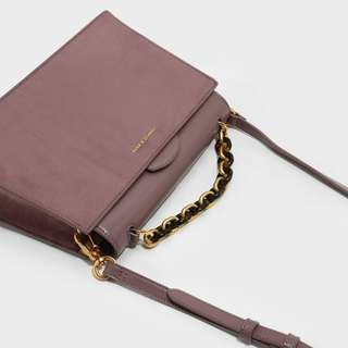 Charles & Keith chain top handle handbag - limited edition