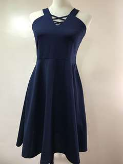 Casual Dress Navy Blue with Belt