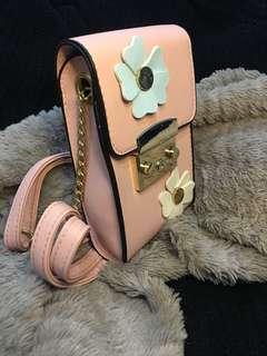 Mini sling bag-pink floral