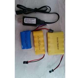 Nerf WBB Toys Battery & Accessories (AK74U M249 Gelblasters M8 M92)