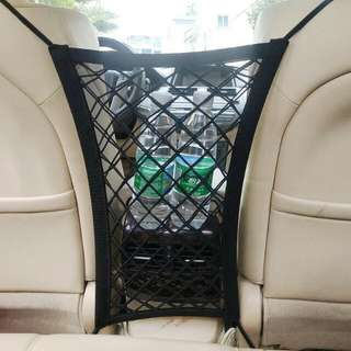 汽車座椅收納袋 儲物網 車用保護孩童網 多功能