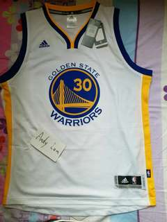 NWT NBA Stephen Curry Adidas Golden State Warriors Home Swingman Men Jersey S or L