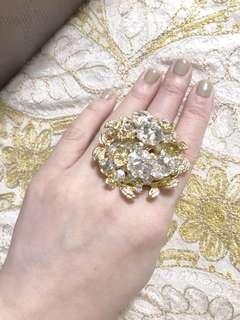 🚚 aldo 金色戒指