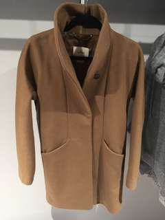 Aritzia Wilfred cocoon wool coat with cashmere