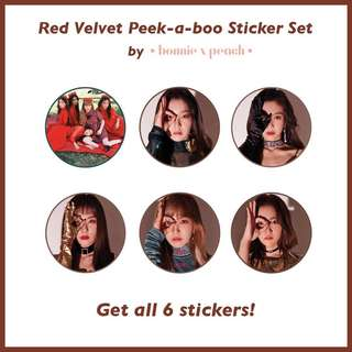 Red Velvet Peek-A-Boo Sticker Set