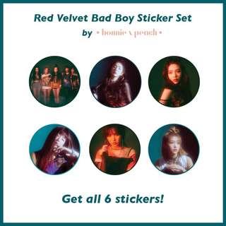 Red Velvet Bad Boy Sticker Set