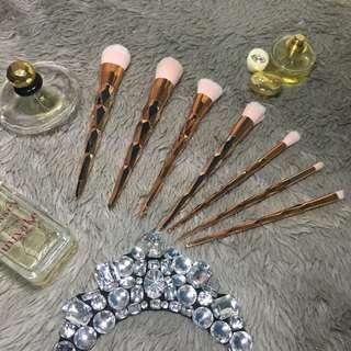 Rose gold Unicorn Makeup Brushes