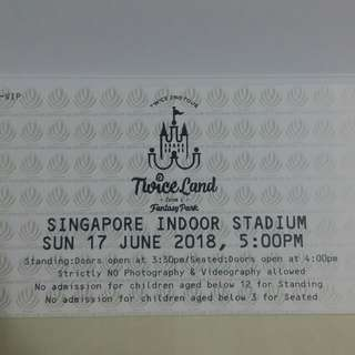 (WTS) Twiceland Zone 2 Fantasy Park Pen B Singtel Priority VIP