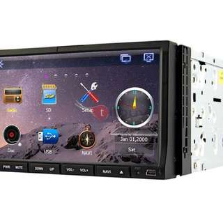 Rungrace 7-inch 2 Din TFT Screen In-Dash Car DVD Player With Bluetooth,Navigation-Ready GPS,RDS,ATV, RL-203WGAR02