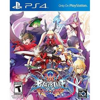 (Brand New Sealed) PS4 Game Blazblue Central Fiction.
