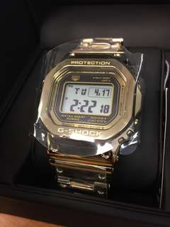 Japan Version Casio G-Shock 35th Anniversary Full Metal Stainless Steel Gold GMW-B5000TFG-9JR Limited Edition Watch