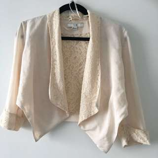 F21 flowy lace blazer