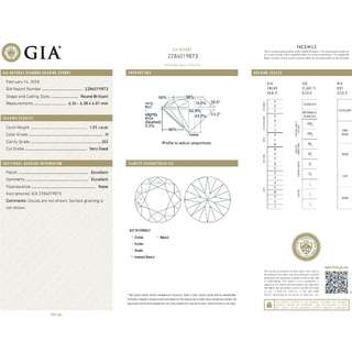 GIA 認證 1.01CT   H color  SI2 鑽石