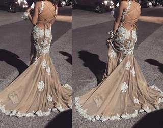 Nude Ice Blue Jadore Prom/Evening Dress
