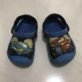 Crocs Size C 6-7 (Lightning McQueen Auth Blue)