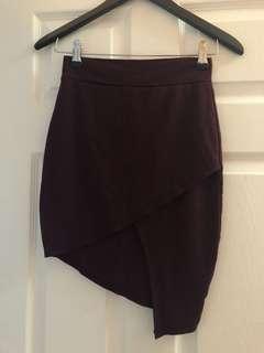 Purple wrap skirt