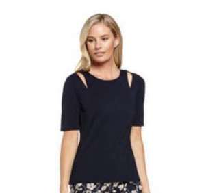 JACQUI.E jada cut out top (NAVY)