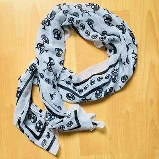 *REDUCED* Skull sheer scarf