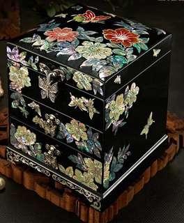 日本螺鈿復古首飾盒(純手工,訂造)