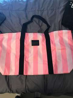 VS stripe duffel bag
