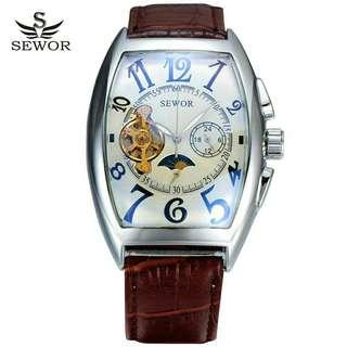 Sewor mechanical turbilion luxury watch