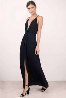 NWT Black Knotted Maxi Dress (Size Small)