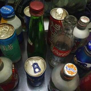 coca cola n fanta bottles