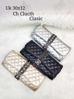 Chanel Clutch Lambskin & Cevron