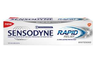 Sensodyne rapid relief 100g (left 5 tubes)