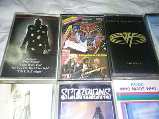 Rock Cassettes AC/DC SCORPIONS JUDAS PRIEST OZZY PINK FLOYD BEASTIE BOYS THIN LIZZY @ $4 Each