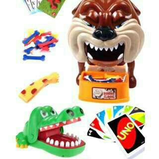 Bad dog + Crocodile dentist + Uno cards