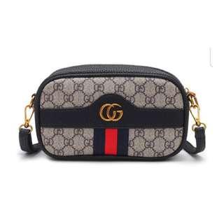 Inspired gucci pu crossbody bag