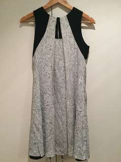 Cue dress black and white with cut-out detail size 8