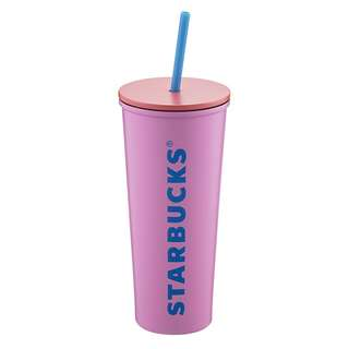🆕Starbucks® 20oz Stainless Steel Pink Letter Cold Cup