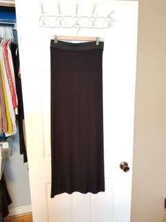 Boohoo Black Maxi Skirt