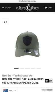 New era youth raiders cap