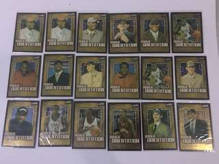 NBA cards from 2003 Draft LeBron Melo Bosh