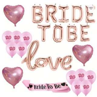 [Pre-order] Bride to Be Theme Party Decoration Bachelorette Hens Night