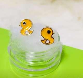 Duck children Earrings USA screwback