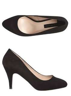 Dorothy Perkins Black Wide Fit Courts