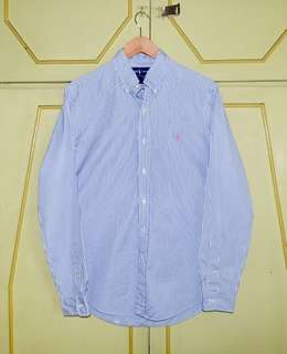 Authentic Ralph Lauren Striped Custom Fit Dress Shirt