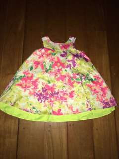 Cherokee from US 4T Floral Swing Satin Dress