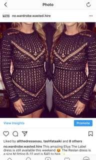 Eliya the label reslan Dress black crochet