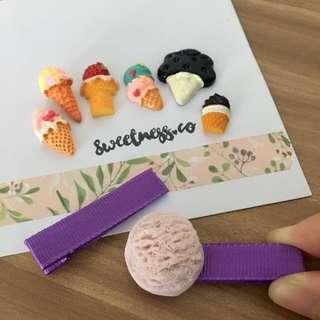 Customisable hair clips - ice cream dreams
